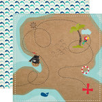 Echo Park - Pirates Life Collection - 12 x 12 Double Sided Paper - Treasure Map