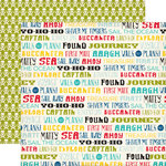 Echo Park - Pirates Life Collection - 12 x 12 Double Sided Paper - Pirate Words