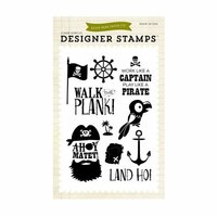 Echo Park - Pirates Life Collection - Clear Photopolymer Stamps - Ahoy Mateys