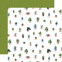 Echo Park - Plant Lady Collection - 12 x 12 Double Sided Paper - House Plants