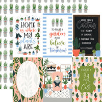 Echo Park - Plant Lady Collection - 12 x 12 Double Sided Paper - 4 x 6 Journaling Cards
