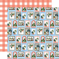 Echo Park - Plant Lady Collection - 12 x 12 Double Sided Paper - Window Blooms