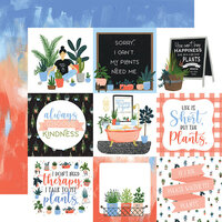 Echo Park - Plant Lady Collection - 12 x 12 Double Sided Paper - 4 x 4 Journaling Cards