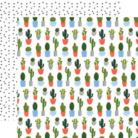 Echo Park - Plant Lady Collection - 12 x 12 Double Sided Paper - Cacti