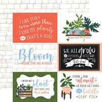 Echo Park - Plant Lady Collection - 12 x 12 Double Sided Paper - 6 x 4 Journaling Cards