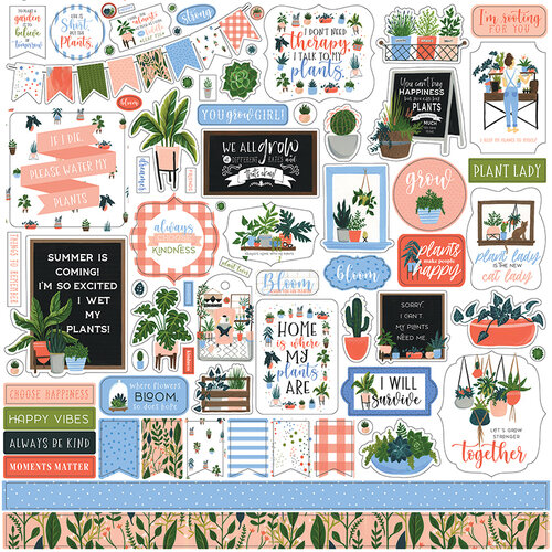 Echo Park - Plant Lady Collection - 12 x 12 Cardstock Stickers - Element