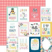 Echo Park - Pool Party Collection - 12 x 12 Double Sided Paper - 3 x 4 Journaling Cards