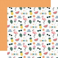 Echo Park - Pool Party Collection - 12 x 12 Double Sided Paper - Hello Summer