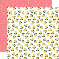 Echo Park - Pool Party Collection - 12 x 12 Double Sided Paper - Make Lemonade