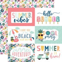 Echo Park - Pool Party Collection - 12 x 12 Double Sided Paper - 6 x 4 Journaling Cards
