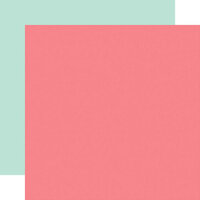 Echo Park - Pool Party Collection - 12 x 12 Double Sided Paper - Pink