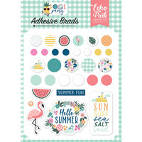 Echo Park - Pool Party Collection - Self Adhesive Decorative Brads