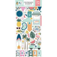 Echo Park - Pool Party Collection - Chipboard Stickers - Accents