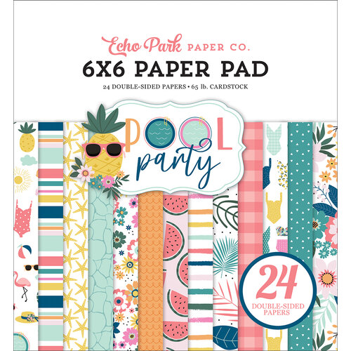 Echo Park - Pool Party Collection - 6 x 6 Paper Pad