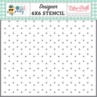 Echo Park - Pool Party Collection - 6 x 6 Stencils - Summer Sprinkles