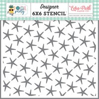 Echo Park - Pool Party Collection - 6 x 6 Stencils - Summer Starfish