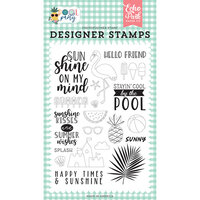 Echo Park - Pool Party Collection - Clear Photopolymer Stamps - Sunshine Kisses