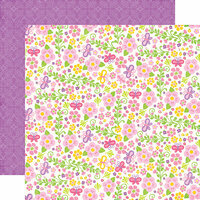 Echo Park - Perfect Princess Collection - 12 x 12 Double Sided Paper - Fairy Garden