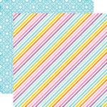 Echo Park - Perfect Princess Collection - 12 x 12 Double Sided Paper - Stardust Stripe