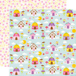 Echo Park - Perfect Princess Collection - 12 x 12 Double Sided Paper - Fairy Village