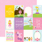 Echo Park - Perfect Princess Collection - 12 x 12 Double Sided Paper - 3 x 4 Journaling Cards