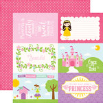Echo Park - Perfect Princess Collection - 12 x 12 Double Sided Paper - 4 x 6 Journaling Cards