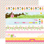 Echo Park - Perfect Princess Collection - 12 x 12 Double Sided Paper - Border Strips