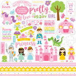 Echo Park - Perfect Princess Collection - 12 x 12 Cardstock Stickers - Elements