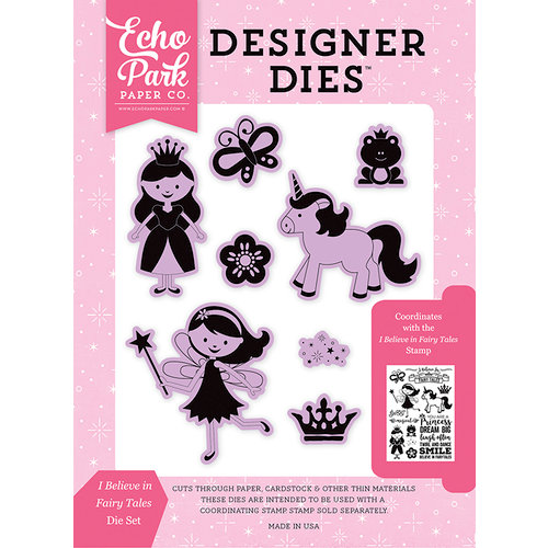 Echo Park - Perfect Princess Collection - Designer Dies - I Believe in Fairy Tales