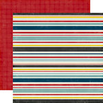 Echo Park - Petticoats and Pinstripes Collection - Boy - 12 x 12 Double Sided Paper - Boy Stripe