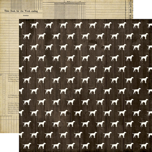 Echo Park - Petticoats and Pinstripes Collection - Boy - 12 x 12 Double Sided Paper - Dog Days