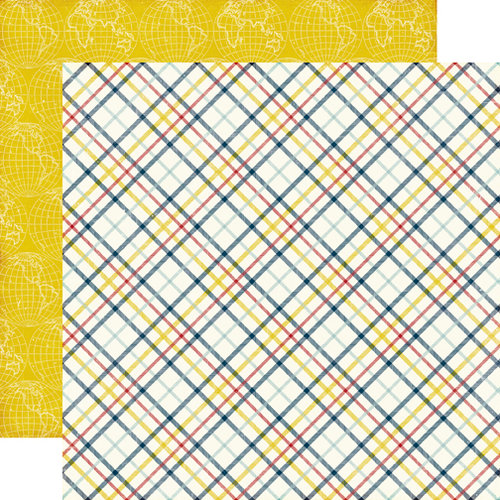Echo Park - Petticoats and Pinstripes Collection - Boy - 12 x 12 Double Sided Paper - Lad Plaid