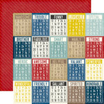 Echo Park - Petticoats and Pinstripes Collection - Boy - 12 x 12 Double Sided Paper - Boy Bingo Cards