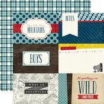 Echo Park - Petticoats and Pinstripes Collection - Boy - 12 x 12 Double Sided Paper - 4 x 6 Journaling Cards