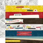 Echo Park - Petticoats and Pinstripes Collection - Boy - 12 x 12 Double Sided Paper - Border Strips