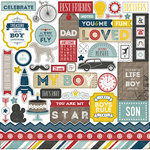 Echo Park - Petticoats and Pinstripes Collection - Boy - 12 x 12 Cardstock Stickers - Elements