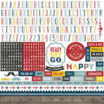 Echo Park - Petticoats and Pinstripes Collection - Boy - 12 x 12 Cardstock Stickers - Alphabet
