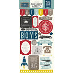 Echo Park - Petticoats and Pinstripes Collection - Boy - Chipboard Stickers