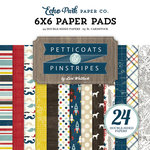 Echo Park - Petticoats and Pinstripes Collection - Boy - 6 x 6 Paper Pad