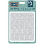 Echo Park - Petticoats and Pinstripes Collection - Boy - Embossing Folder - Rocketship