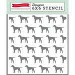 Echo Park - Petticoats and Pinstripes Collection - Boy - 6 x 6 Stencil - Dog