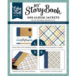 Echo Park - Petticoats and Pinstripes Collection - Boy - My StoryBook - 6 x 8 Album Jacket - Plaid