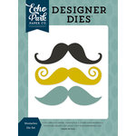 Echo Park - Petticoats and Pinstripes Collection - Boy - Designer Dies - Mustaches