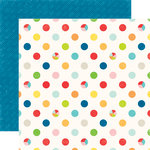 Echo Park - A Perfect Summer Collection - 12 x 12 Double Sided Paper - Big Dots