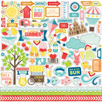 Echo Park - A Perfect Summer Collection - 12 x 12 Cardstock Stickers - Elements