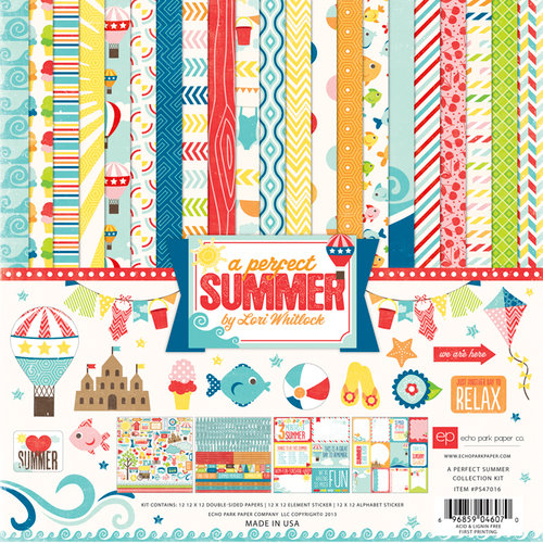 Echo Park - A Perfect Summer Collection - 12 x 12 Collection Kit