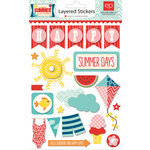 Echo Park - A Perfect Summer Collection - Layered Cardstock Stickers