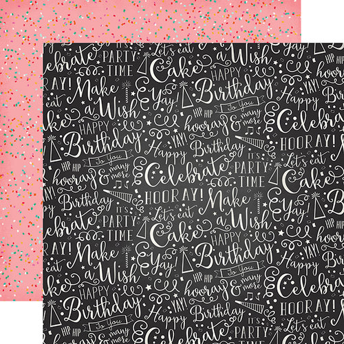 Echo Park - Party Time Collection - 12 x 12 Double Sided Paper - Hooray