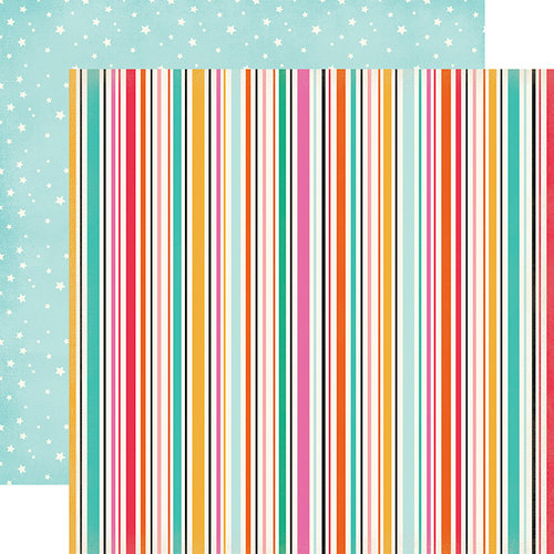 Echo Park - Party Time Collection - 12 x 12 Double Sided Paper - Streamers