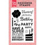 Echo Park - Party Time Collection - Clear Acrylic Stamps - Hip Hip Hooray